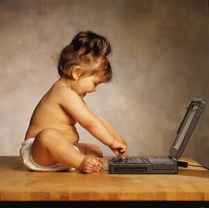 Barn vid dator