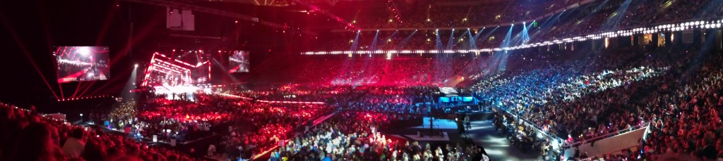 Friends Arena under Melodifestivalen