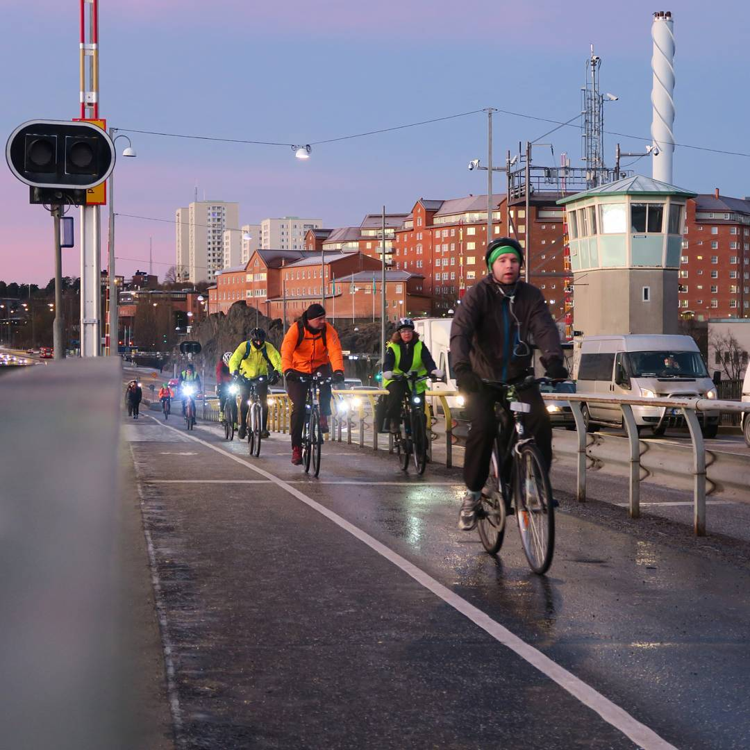 Stockholm wintercycling commuters