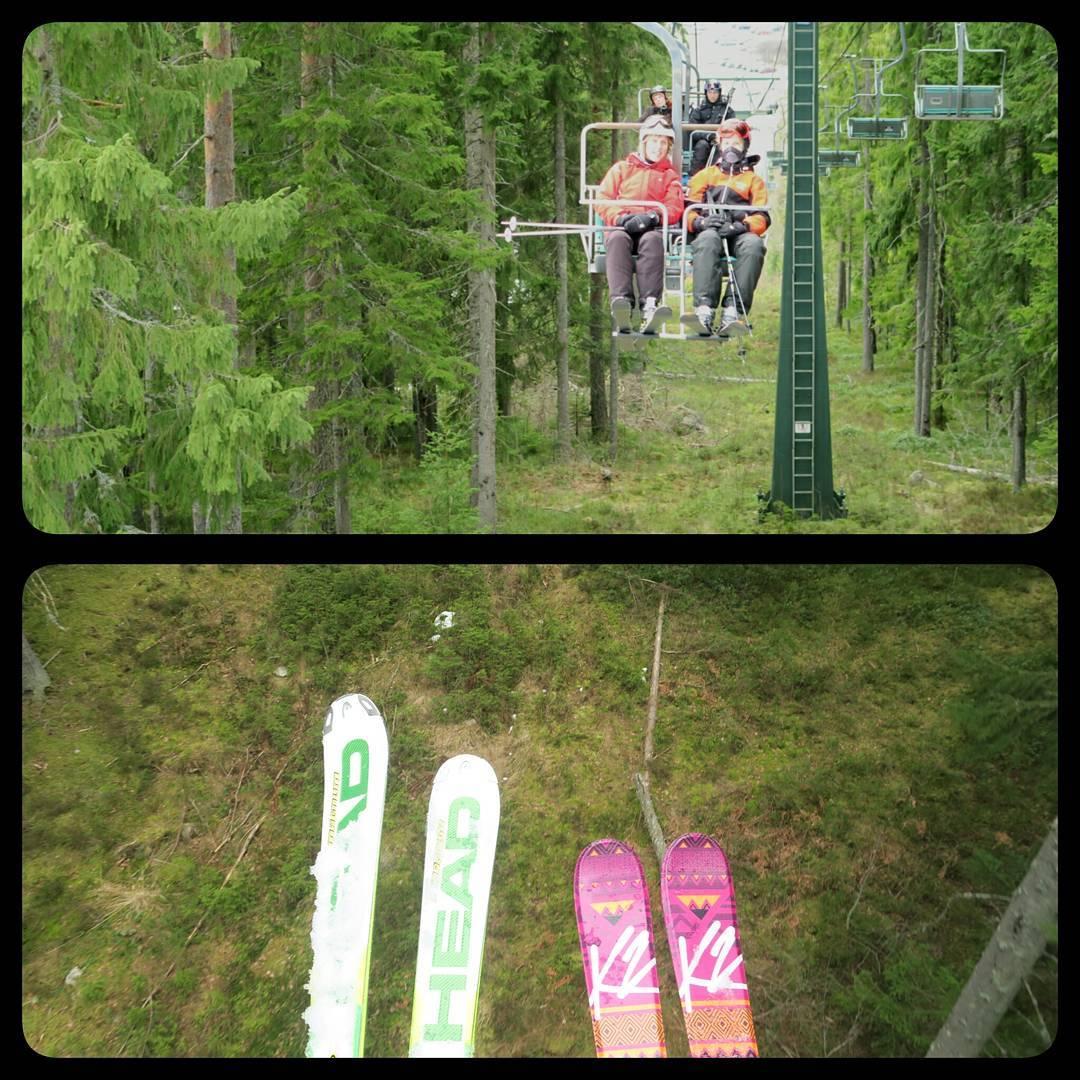 Idag har vi åkt skidor